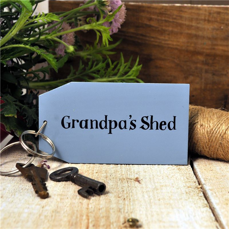 Order Wooden Key Ring:  Grandpa's Shed