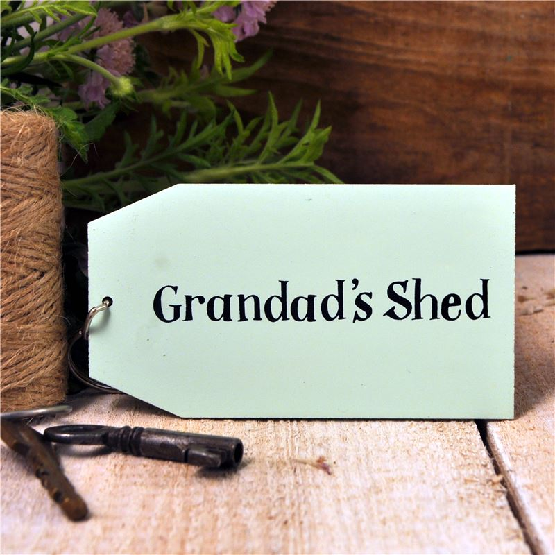 Order Wooden Key Ring:  Grandad's Shed
