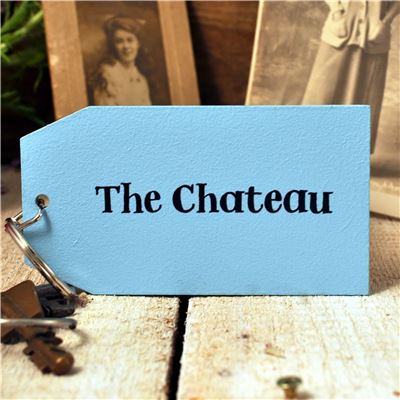 Wooden Key Ring:  The Chateau