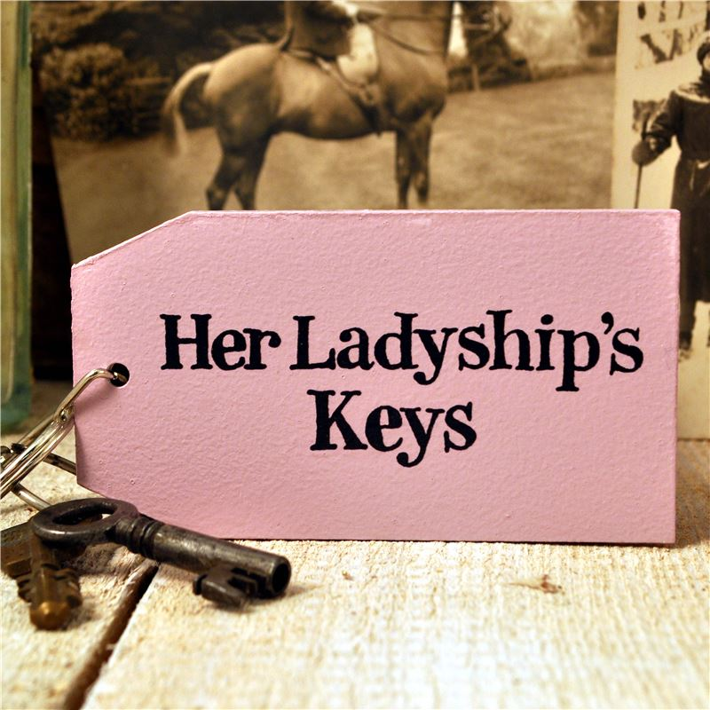 Order Wooden Key Ring: Her Ladyship's Keys