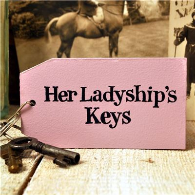 Wooden Key Ring: Her Ladyship's Keys