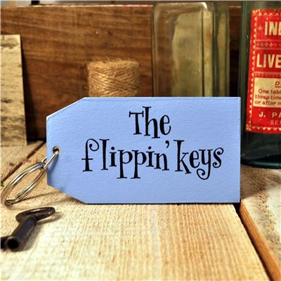 Wooden Key Ring:  The Flippin' Keys