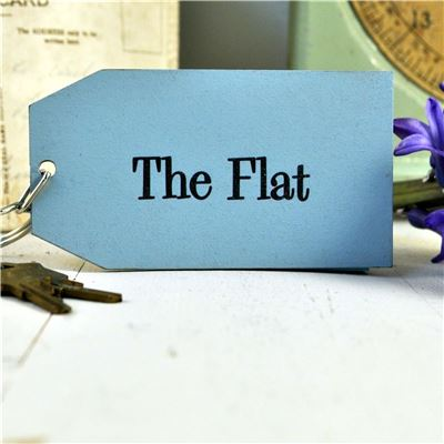Wooden Key Ring:  the Flat