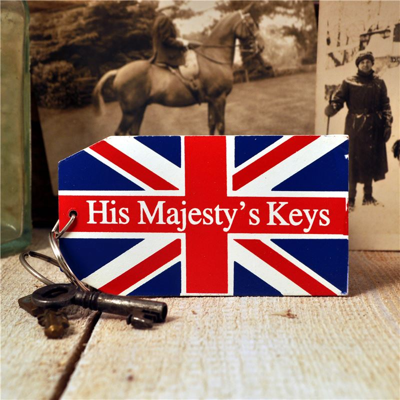 Order Wooden Key Ring:  His Majesty's Keys