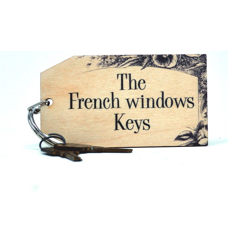 Birch Key Ring: The French Windows Keys