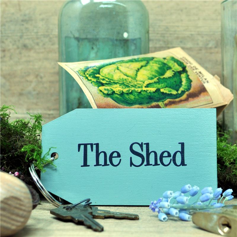 Wooden Key Ring:  The Shed