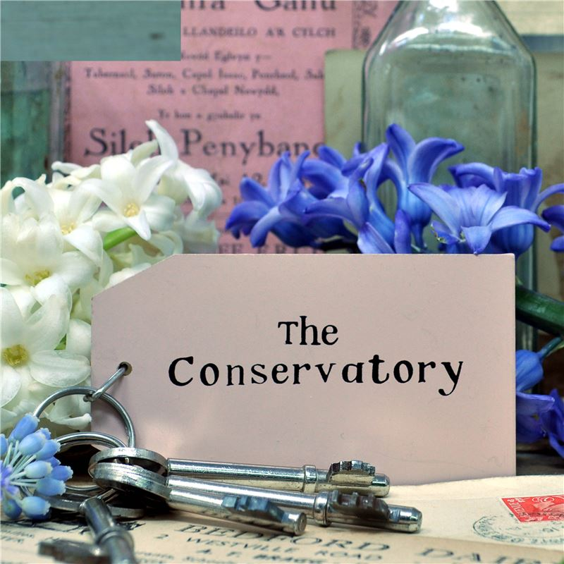Wooden Key Ring:  The Conservatory