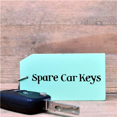 Wooden Key Ring:  Spare Car Keys