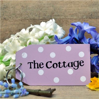 Wooden Key Ring:  The Cottage