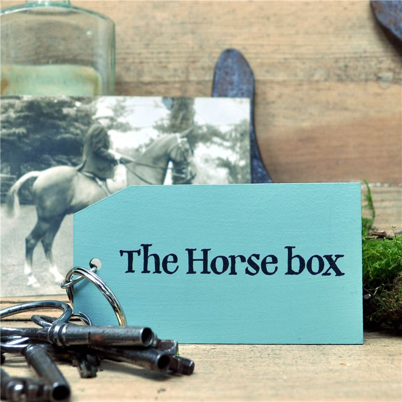 Wooden Key Ring: The Horse Box