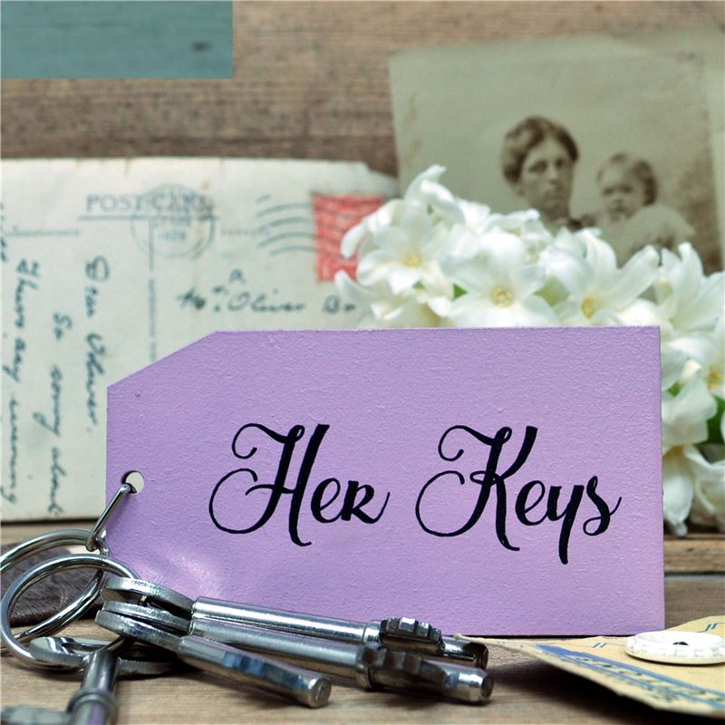 Wooden Key Ring:  Her Keys