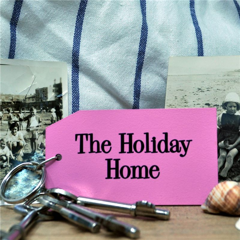 Hand Painted Key Ring:  The Holiday Home