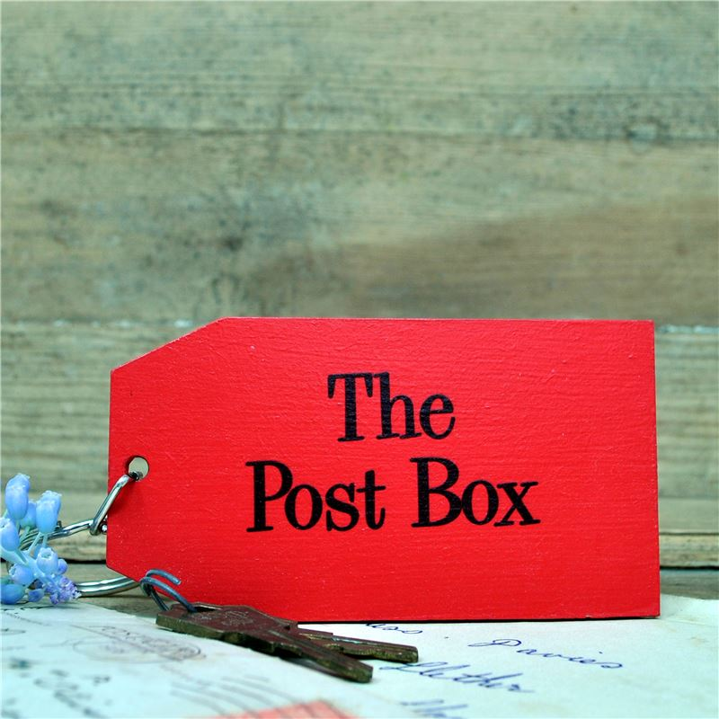 Wooden Key Ring:  The Post Box