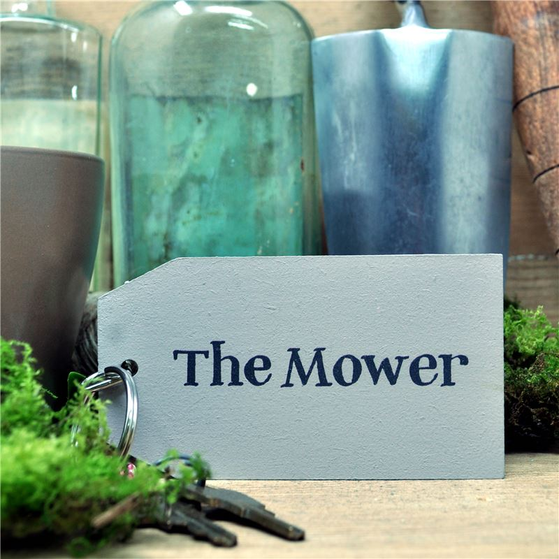 Wooden Key Ring:  The Mower