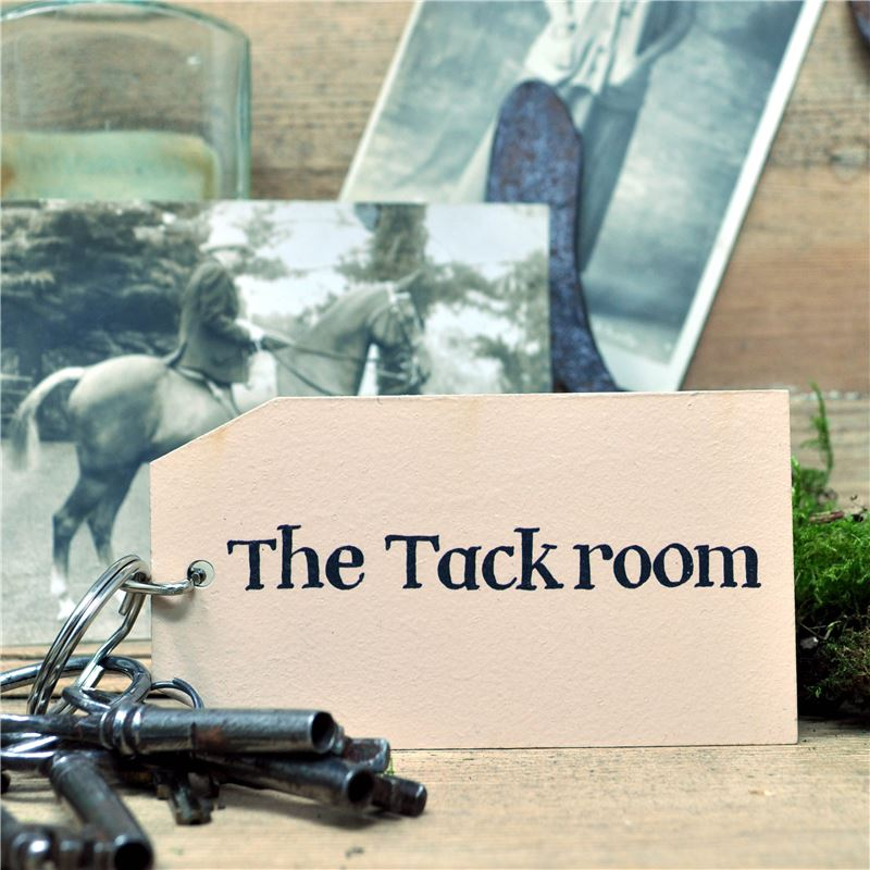 Wooden Key Ring:  The Tack Room