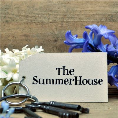 Wooden Key Ring:  The Summer House