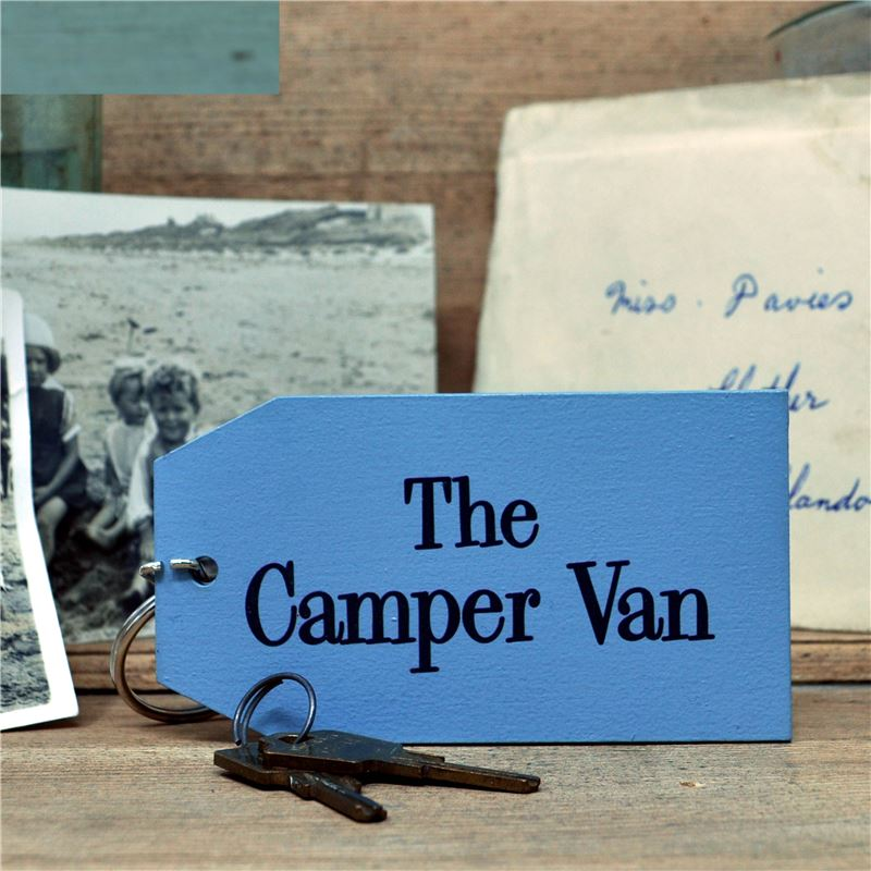 Hand Painted Key Ring:  The Camper van