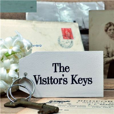 Wooden Key Ring:  The Visitor's Key
