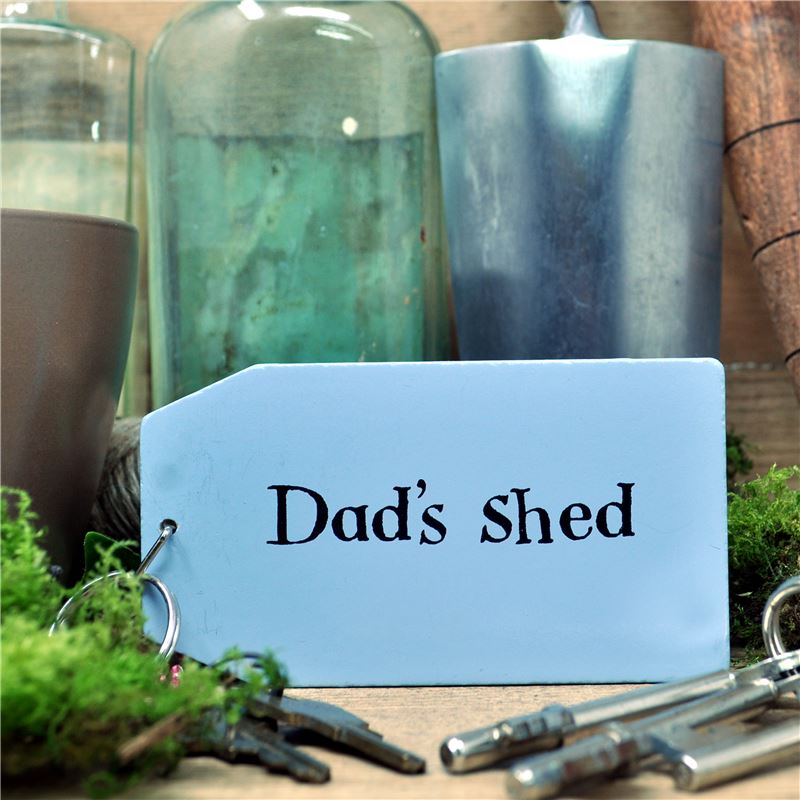 Wooden Key Ring:  Dad's Shed