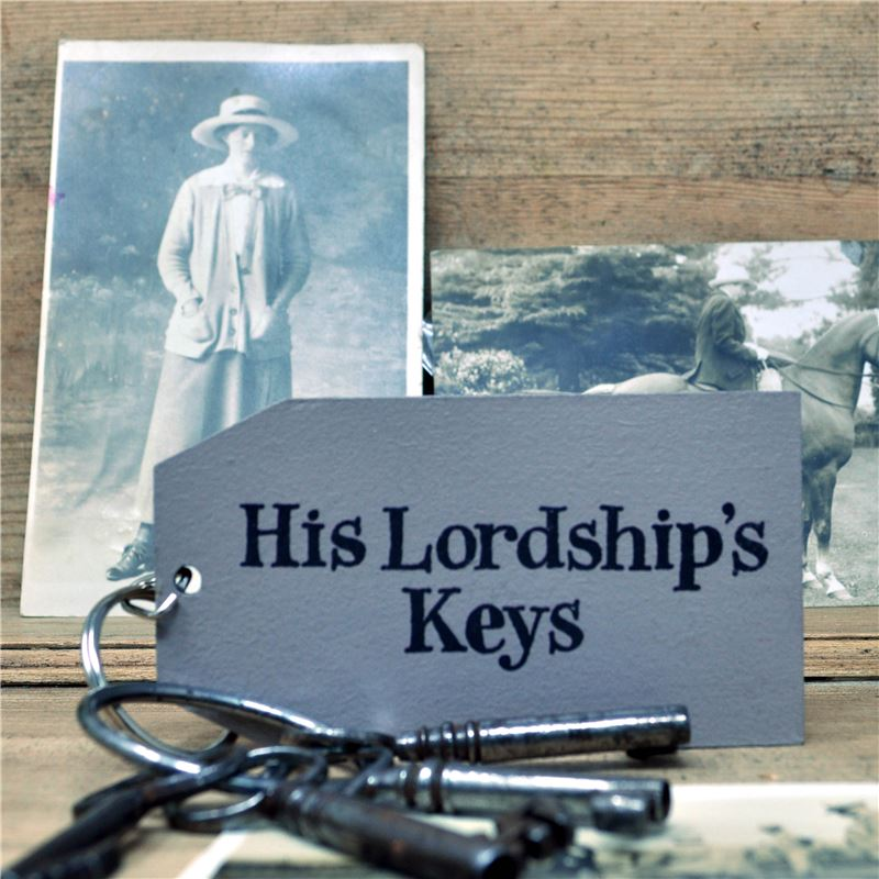 Wooden Key Ring:  His Lordship's Keys