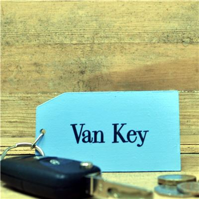 Wooden Key Ring:  Van Key