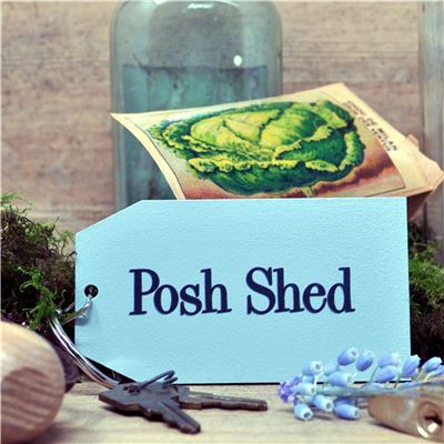 Wooden Key Ring:  Posh Shed