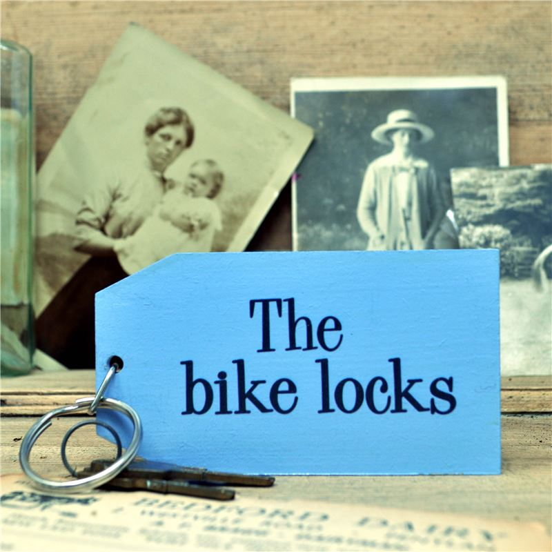 Wooden Key Ring:  The Bike Locks