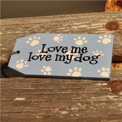 Wooden Key Ring:  Love me love my dog