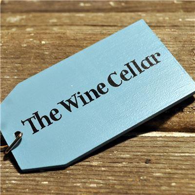 Wooden Key Ring:  The Wine Cellar