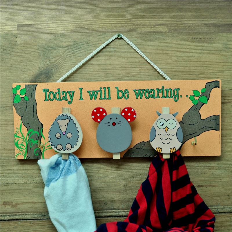 Woodland peg board