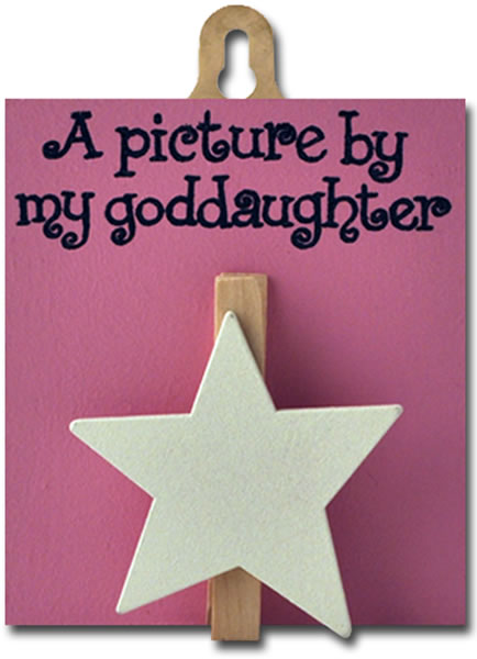 God daughter peg (pink, white star)