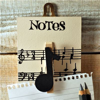 Peg Up Your Papers - Musical Notes