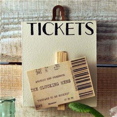 Peg Up Your Papers -  Tickets