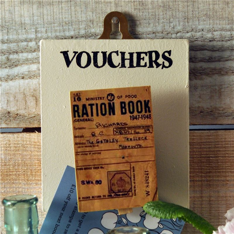 Peg Up Your Papers - Vouchers