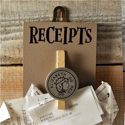 Peg Up Your Papers - Receipts