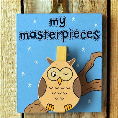 Hand Painted Wooden Peg:  Owl - My masterpieces