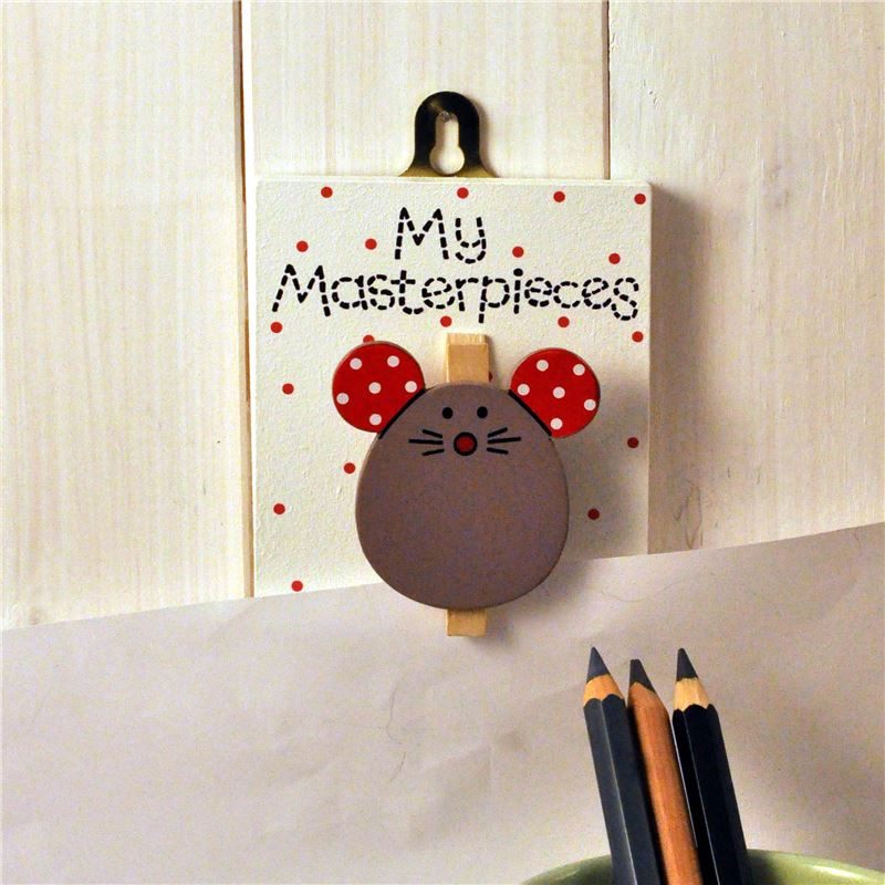 Order Hand Painted Wooden Peg:  Mouse - My masterpieces