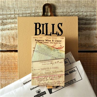 Peg Up Your Papers - Bills