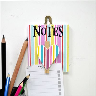 Hand Painted Wooden Peg: Pretty Jolly Notes