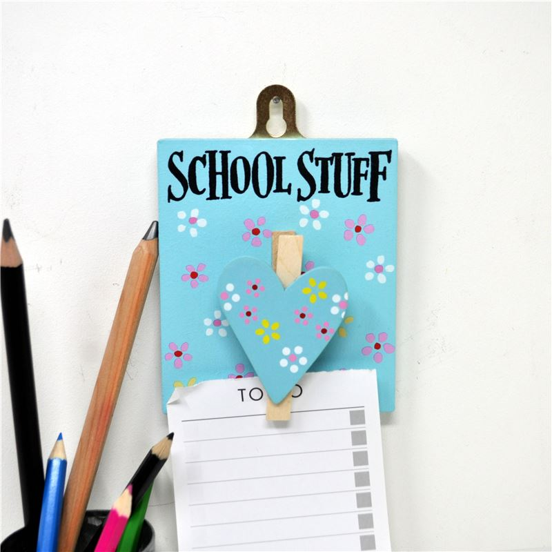 Hand Painted Wooden Peg: Pretty Jolly School Stuff