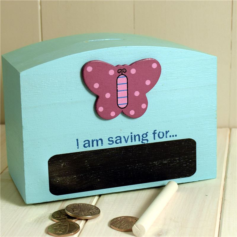 Butterfly chalk money box