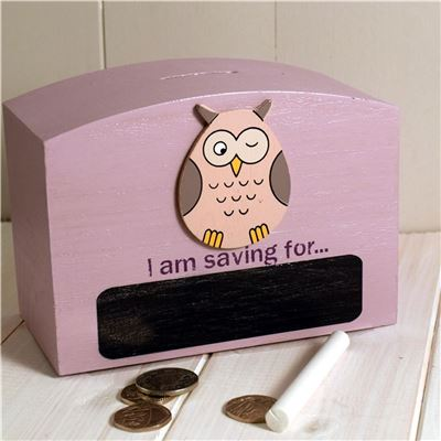 owl chalk money box