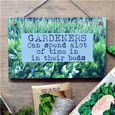 Gardeners can spend a lot of time in their beds