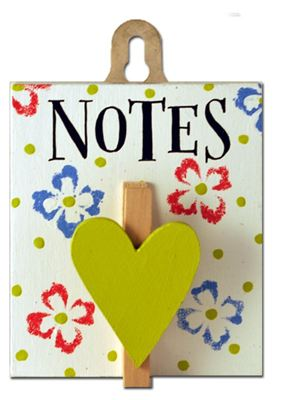 Notes (Posy Pegs)