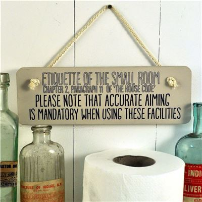 Accurate aiming ,Etiquette of the small room
