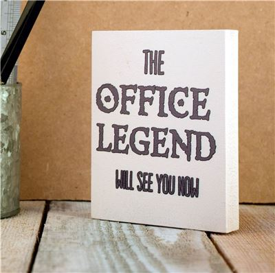 Desk Sign: he Office Legend