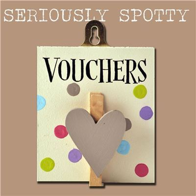 Seriously Spotty Peg:  Vouchers