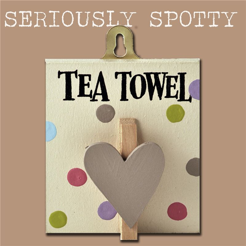 Order Seriously Spotty Peg: Tea Towel
