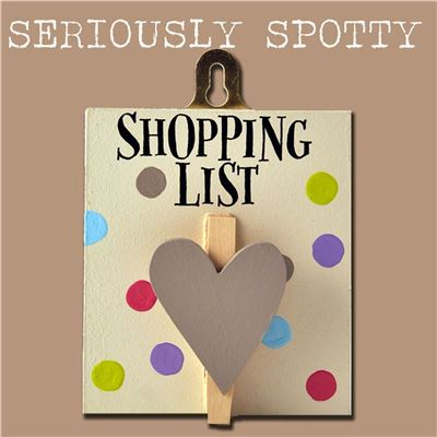 Seriously Spotty Peg:  Shopping list