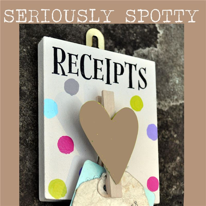 Order Seriously Spotty Peg:  Receipts